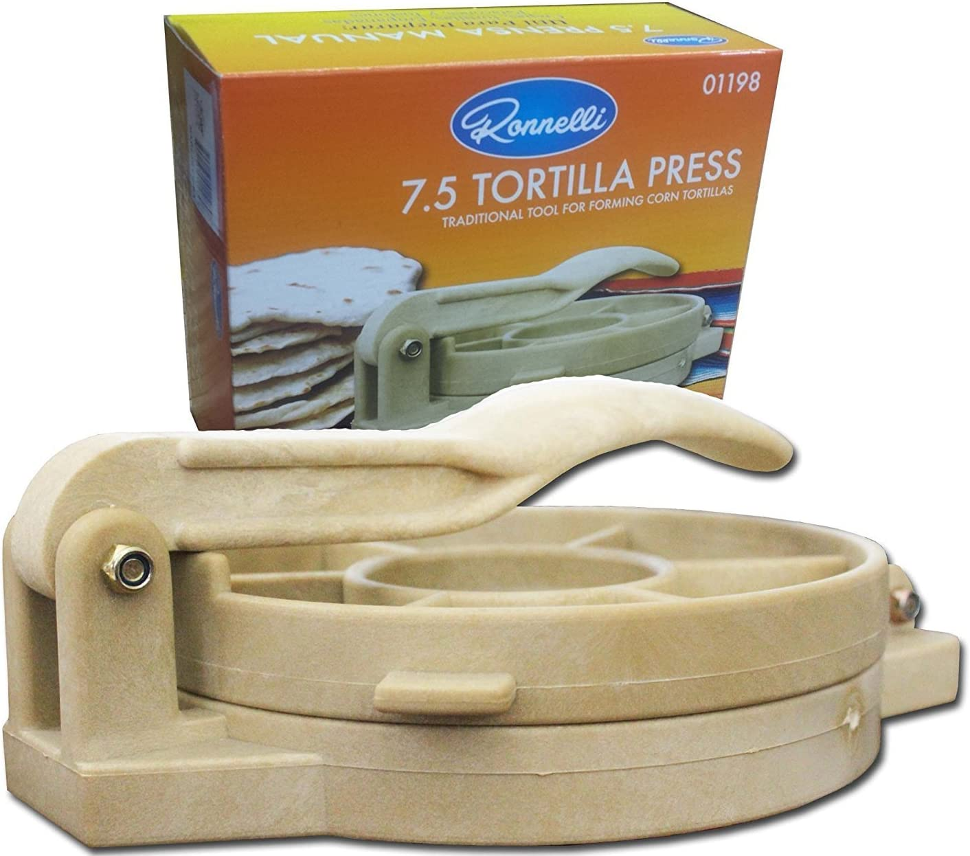 Amazon Com 7 5 Inches Tortilla Press Heavy Duty Plastic Authentic Tortilla Maker Corn Tortilla Machine Kitchen Dining