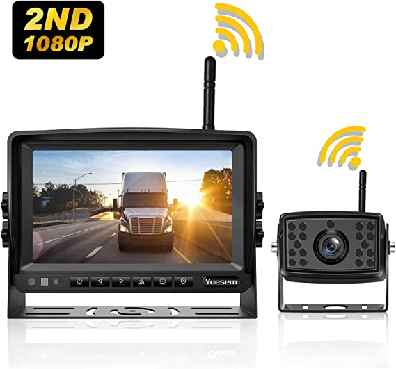 "Digital Wireless Rear View System 7/""HD Monitor+CCD Reversing Camera Truck RV VAN"
