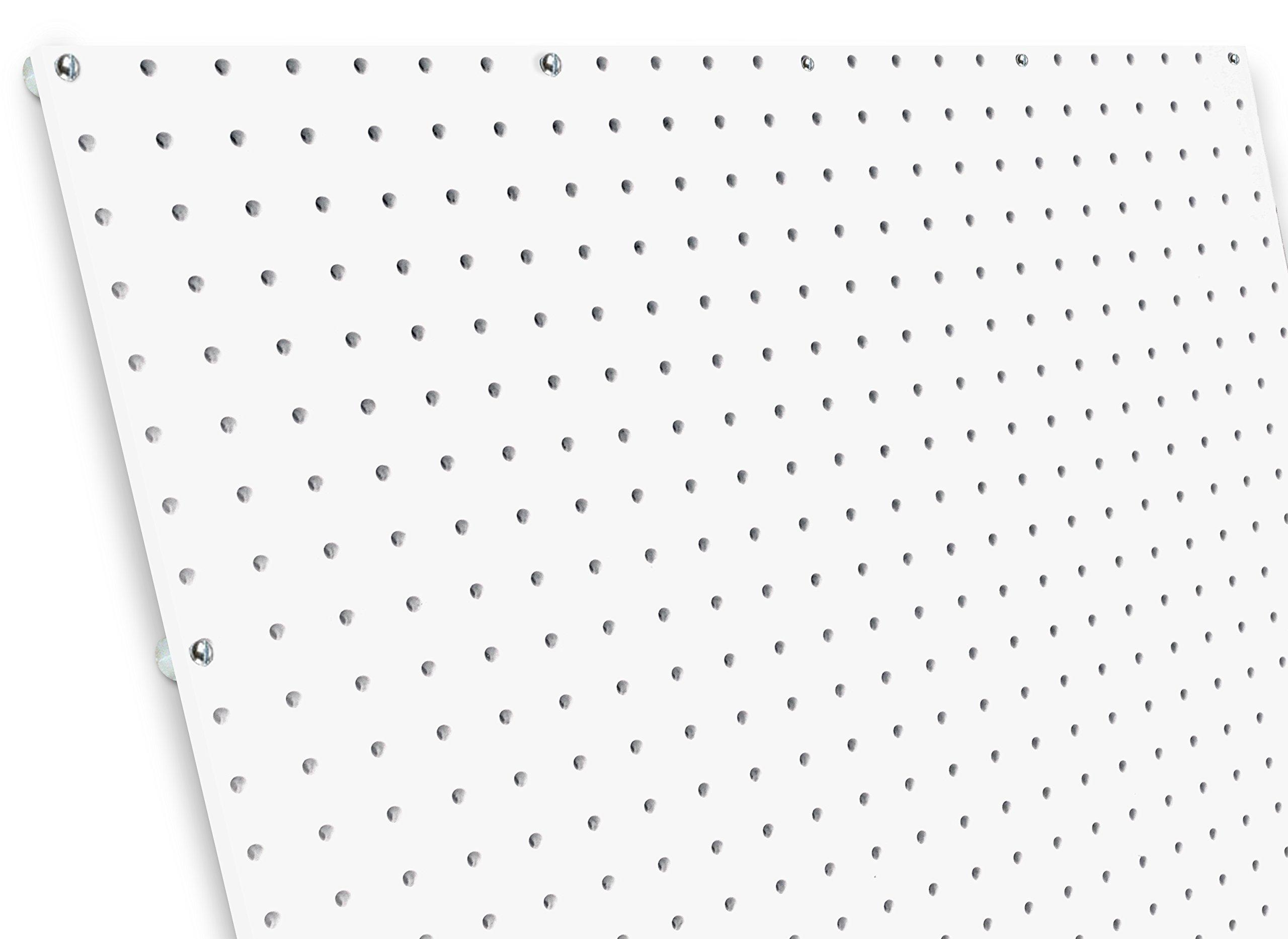 diamondLife HPB2448.G.WHT PegBoard X2, 24'' x 48'', White by diamondLife
