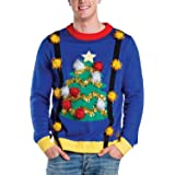 Tipsy Elves Ugly Christmas Sweaters for Guys - Men's Outrageously Tacky Funny Holiday Pullovers
