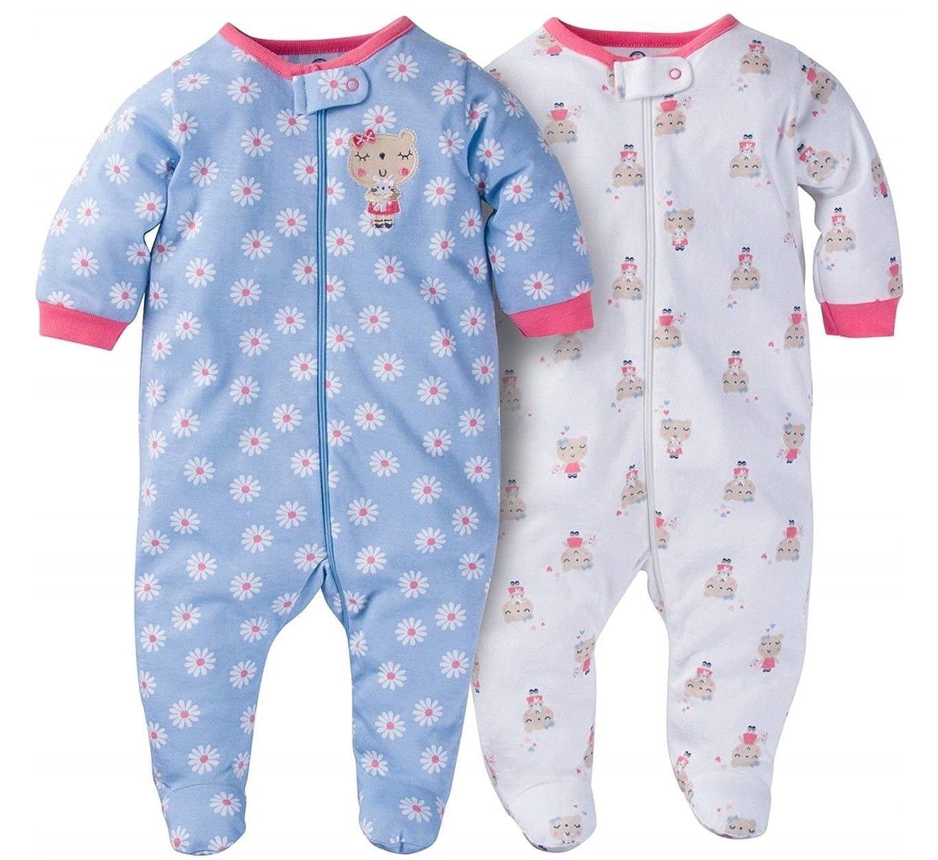 Gerber Baby Girls' 2 Pack Zip Front Sleep 'n Play 1179600baby-girls
