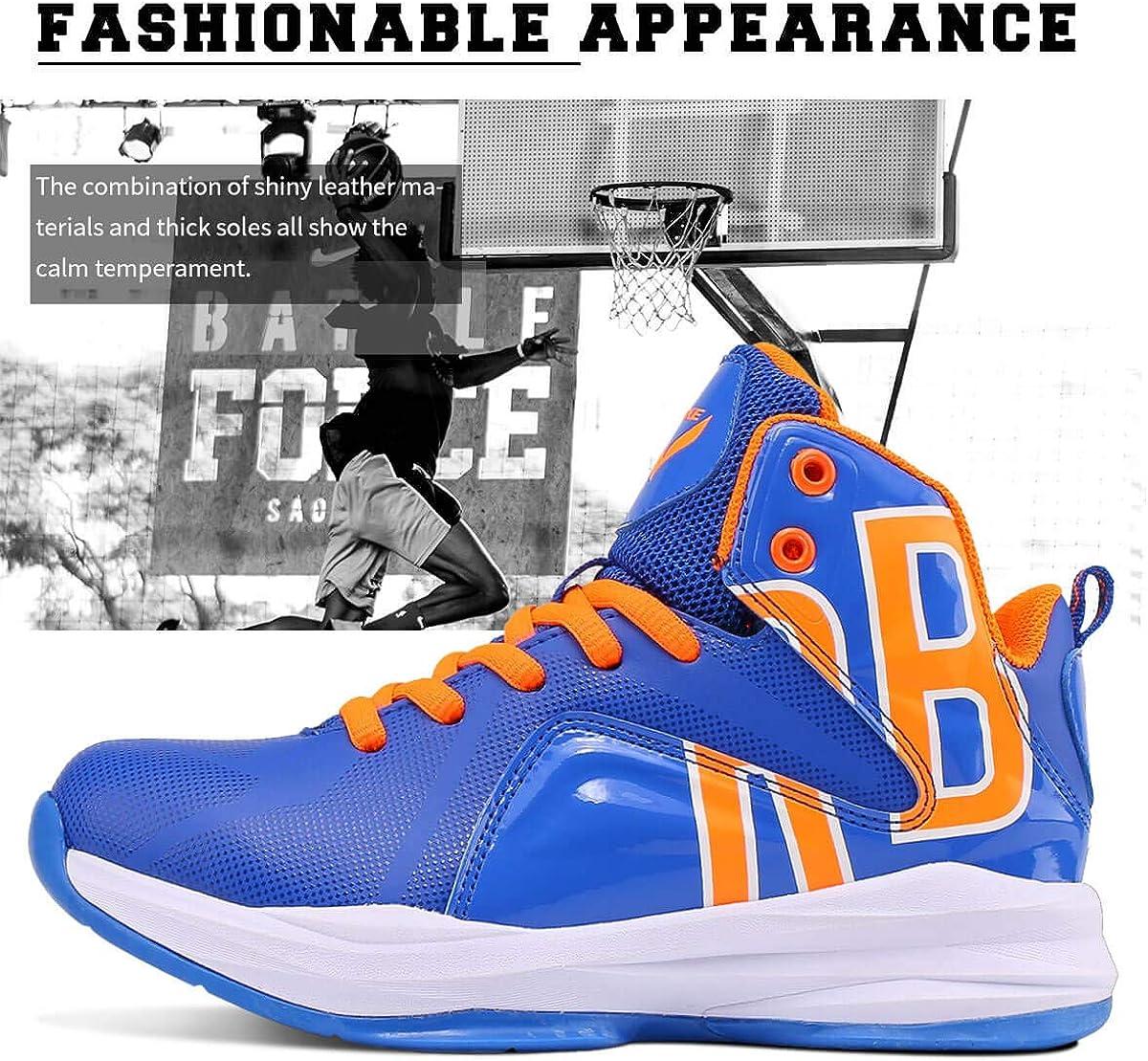 ASHION Jungen Basketballschuhe Turnschuhe Kinder Sportschuhe Herren Sneaker Laufschuhe Outdoor Schuhe G Blau