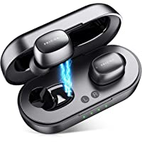 Wireless Earbuds, Bluetooth 5.0 Earbuds Touch Control Bluetooth Headphones with Charging Case, HD Stereo True Wireless Sport in-Earphones Builtin Mic/ 5Hours Playtime/Black