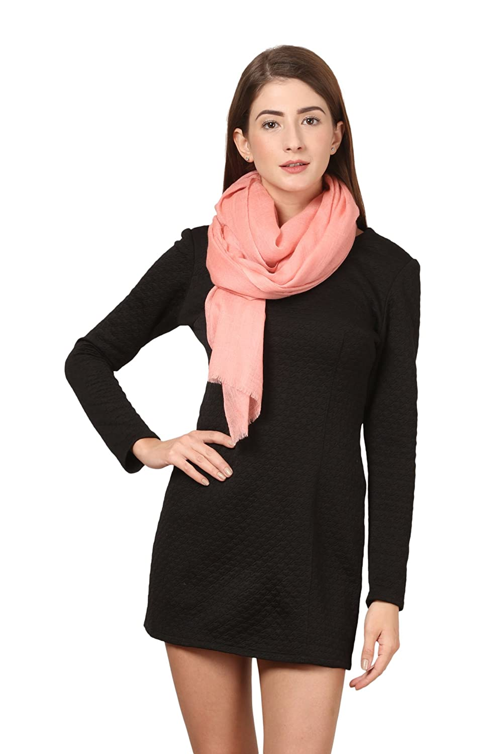 Cafsew Colours Women's Stole (CG-0037-PWRM, Peach Cashmere)