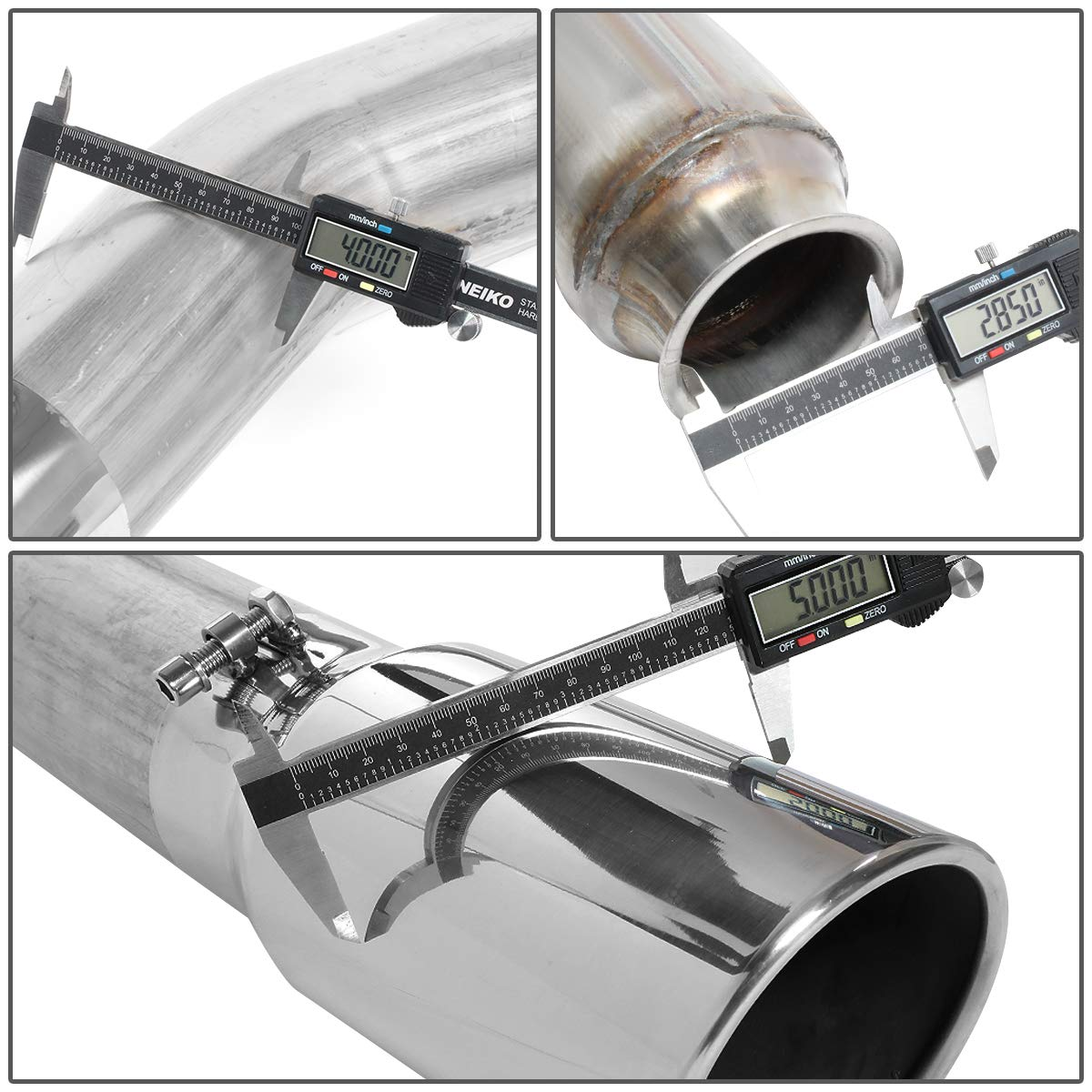 DNA Motoring CBE-GMC25-002 4 Muffler+5 OD Tip Down Pipe Catback Exhasut Kit