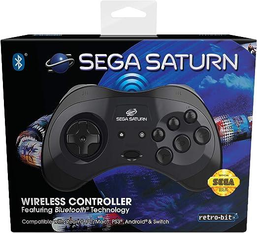 RetroPie Mac Black Raspberry Pi Steam Retro-Bit Official SEGA Saturn Wireless Bluetooth Controller for PC Importaci/ón inglesa Switch