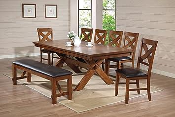 Acme 70000 Apollo Dining Table Distressed Oak Finish