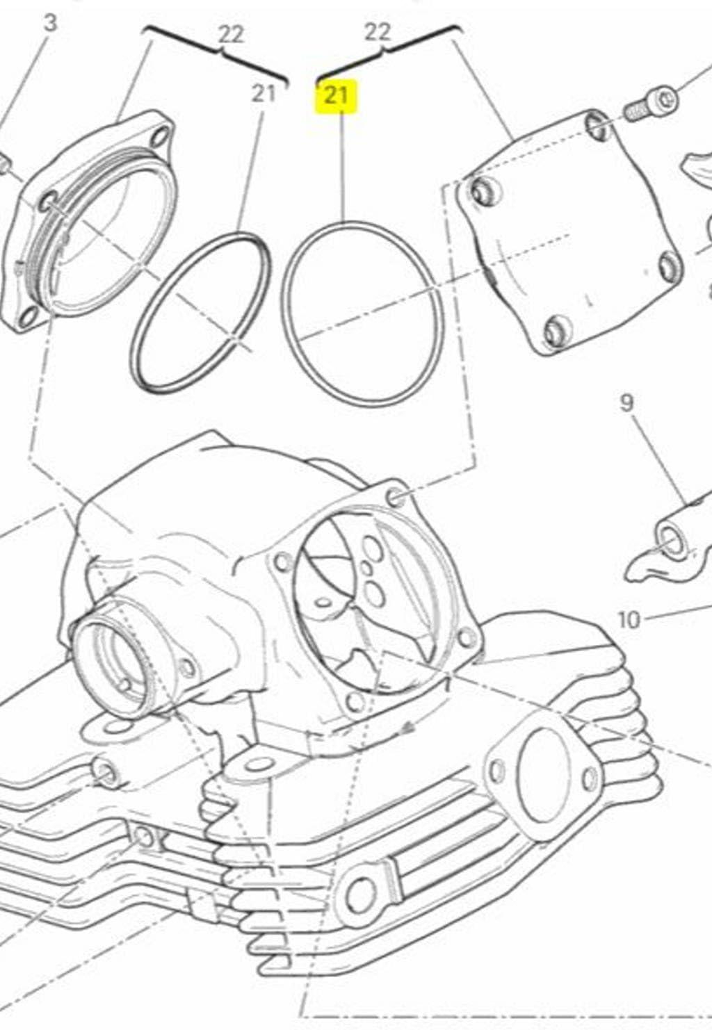 ducati engine diagrams amazon com ducati oem replacement valve cover o ring gasket  ducati oem replacement valve cover o