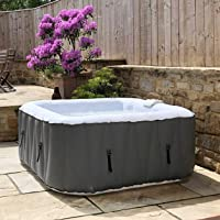 WAVE Spa Pacific Inflatable HotTub, (4 Person, Black) Hot Tub, Integrated Heater & Compressor