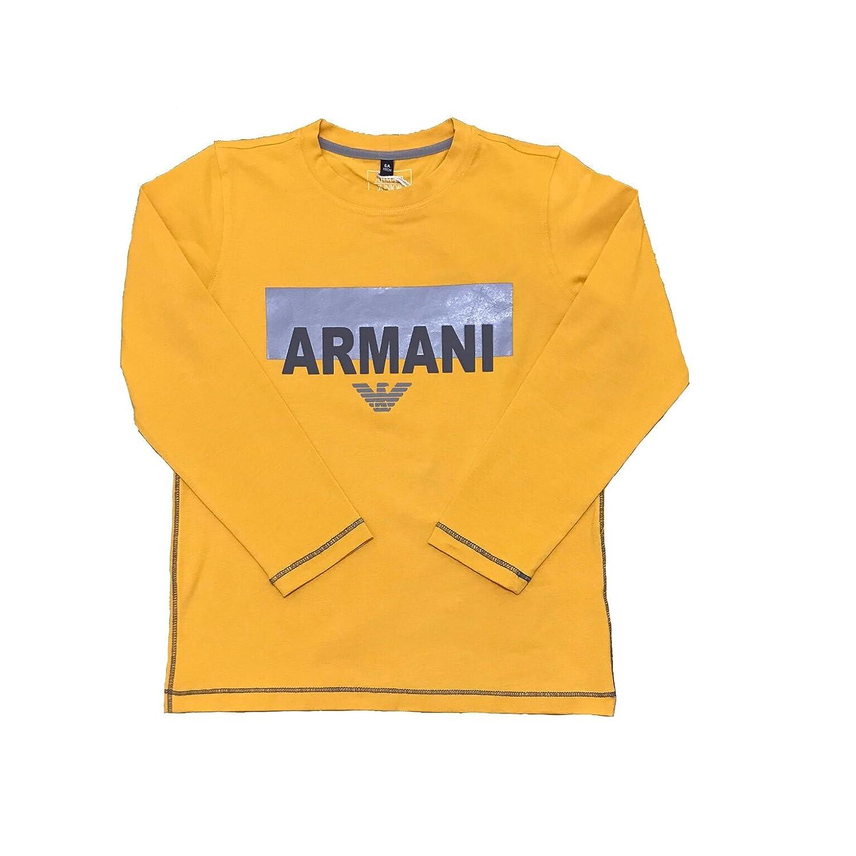 Armani Junior Boys Long Sleeve T-Shirt Top 6Y4T04