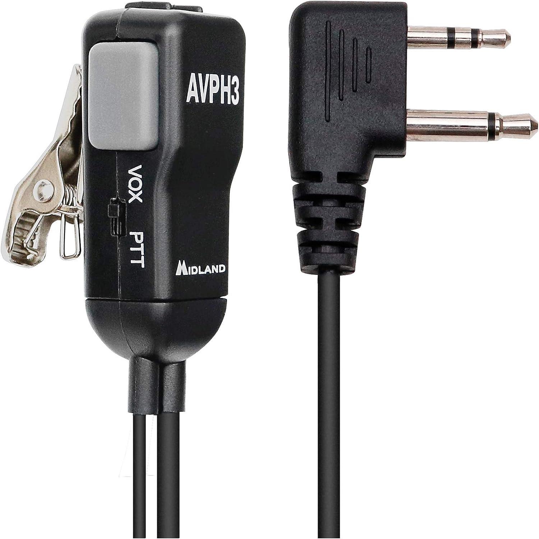 Pair Midland AVPH3 AVP-H3 Security Surveillance Headsets for Midland Radio