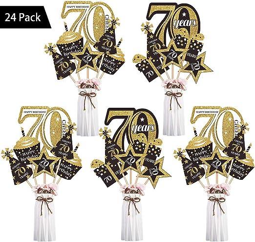 Amycute 70th cumpleaños DIY Photo Booth de 70 años, Fotos Accesorios Photocall Accesorios de decoración 70th Fiesta de cumpleaños (70 años): Amazon.es: Hogar