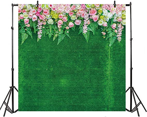 6x6FT Vinyl Photography Backdrop,Rose,Watercolor Gothic Artistic Photoshoot Props Photo Background Studio Prop