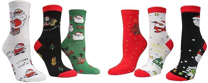 x max 6 pairpack family socks mens 10 13 - Christmas Socks For Men
