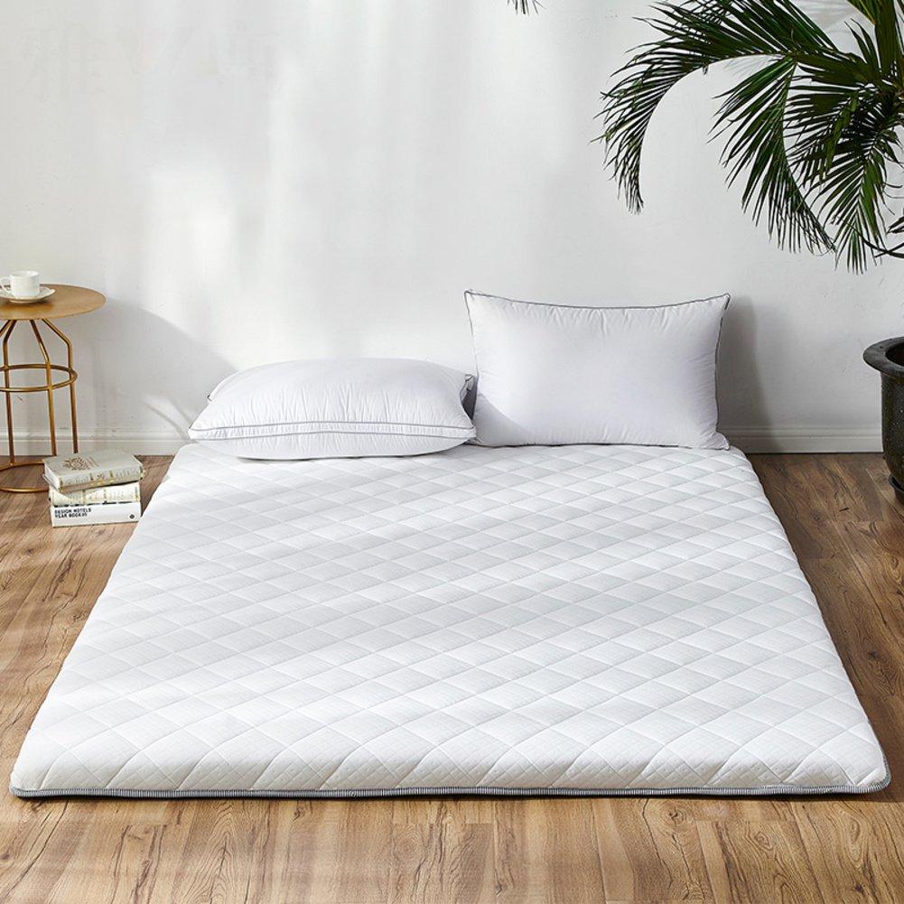 LJ&XJ ソフト畳マットレス,ノンスリップの床マットの耐久性のあるスポンジ マット マットレス トッパー折り畳み式フロアマット-ホワイト 90*200cm B07CKJH7S3 ホワイト 90*200cm