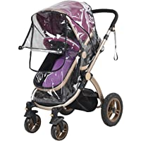 Universal PVC Pushchair Baby Stroller Pram Buggy Transparent Rainproof Cover Rain Shade with Zipper