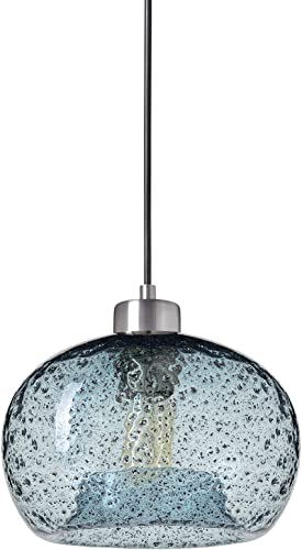 CASAMOTION Mini Pendant Lighting Hand Blown Glass Drop Ceiling Light
