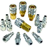 Foster 3 Series - 14pc Coupler & Plug Kit, 1/4' Body, 1/4' NPT - Industrial Interchange, I/M, MIL Spec