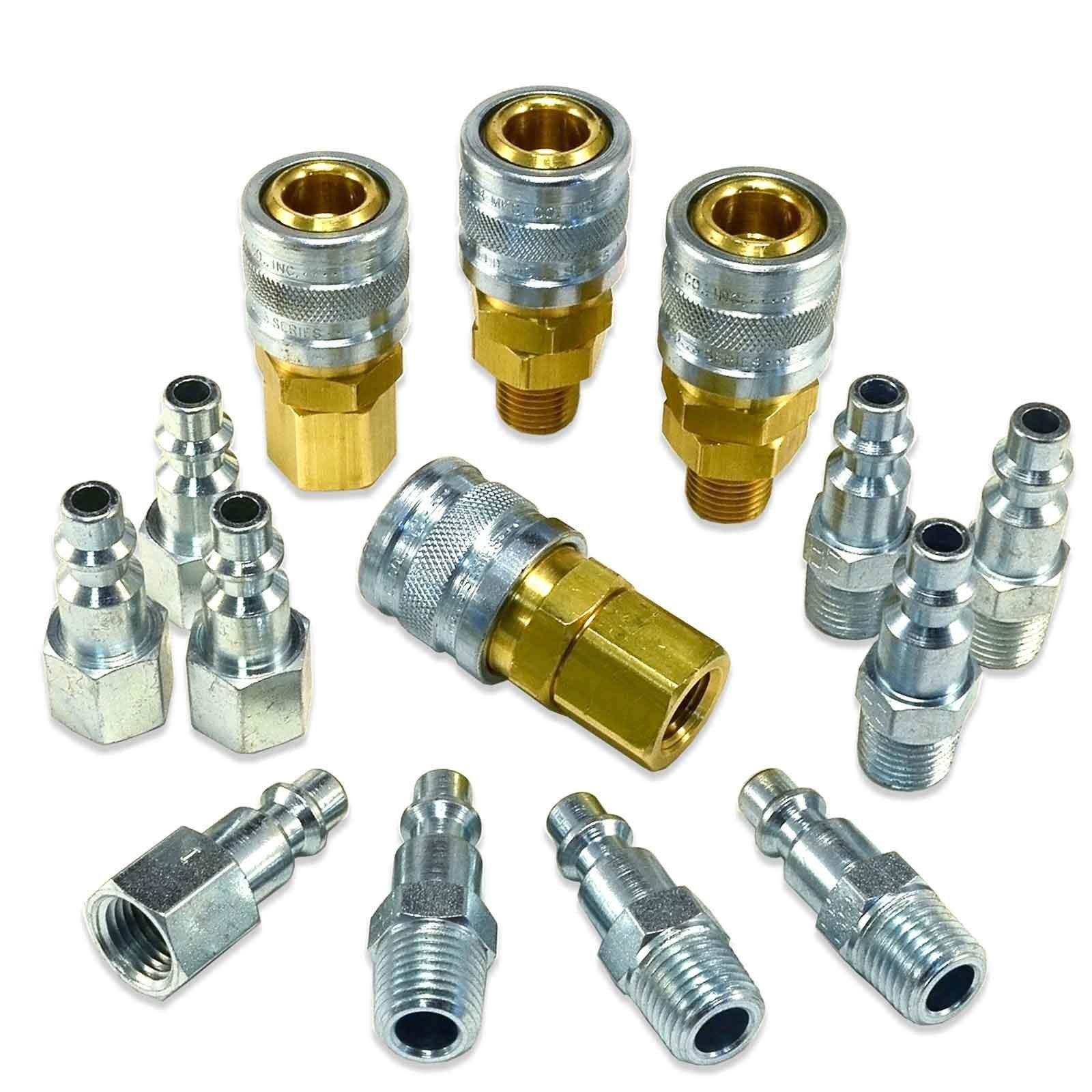 Foster 3 Series - 14pc Coupler & Plug Kit, 1/4'' Body, 1/4'' NPT - Industrial Interchange, I/M, MIL Spec