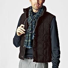 Breuer Wool Nylon Reversible Scarf: Navy / Indigo