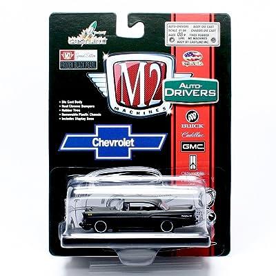 1957 CHEVROLET BEL AIR (Frozen Black Pearl) * M2 Machines Auto-Drivers Release 35 * Castline 2015 Special Edition 1:64 Scale Die-Cast Vehicle ( R35 15-25 )