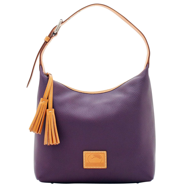 ecf49b060 Amazon.com: Dooney & Bourke Patterson Leather Paige Sac Shoulder Bag, Plum  Wine: Shoes
