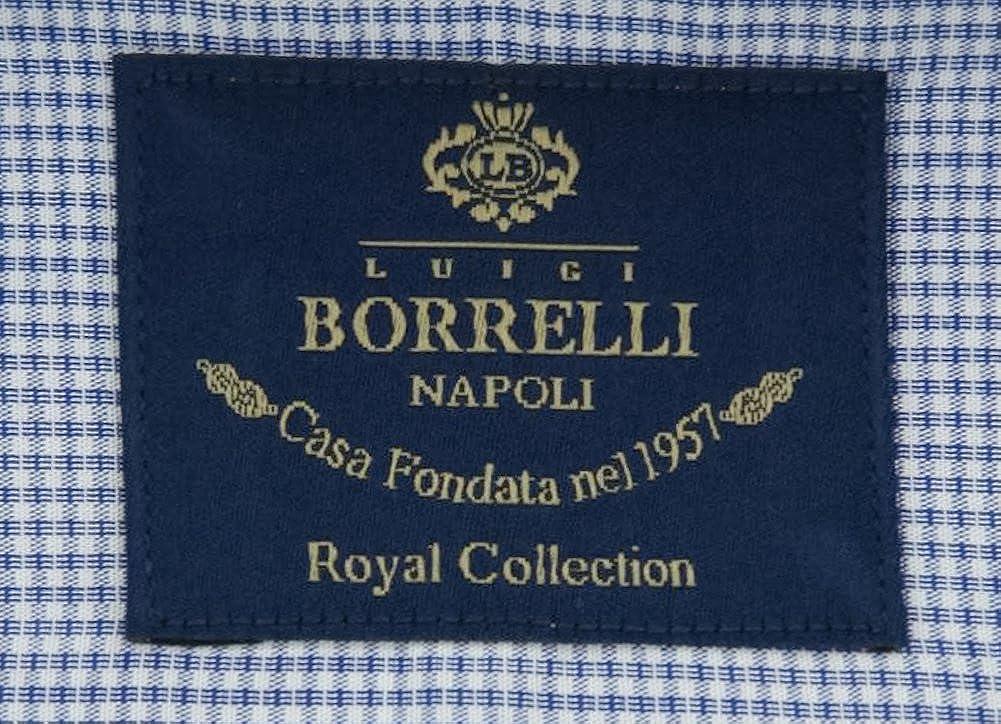 Luigi Borrelli Stripes Button Down Spread Collar Cotton Slim Fit Dress Shirt