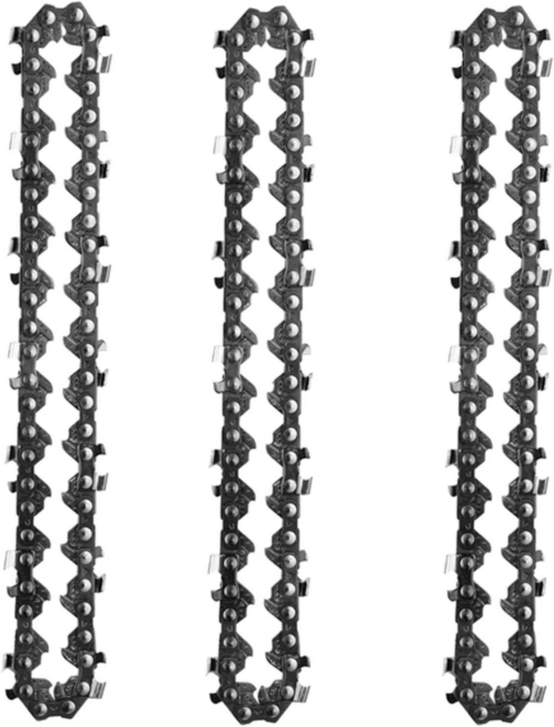 Migaven 3 Piezas Cadena Motosierra, Mini Cadena Motosierra Eléctrica Inalámbrica de 4 Pulgadas para Cortar Madera Ramas de Árboles Poda Patio Jardinería