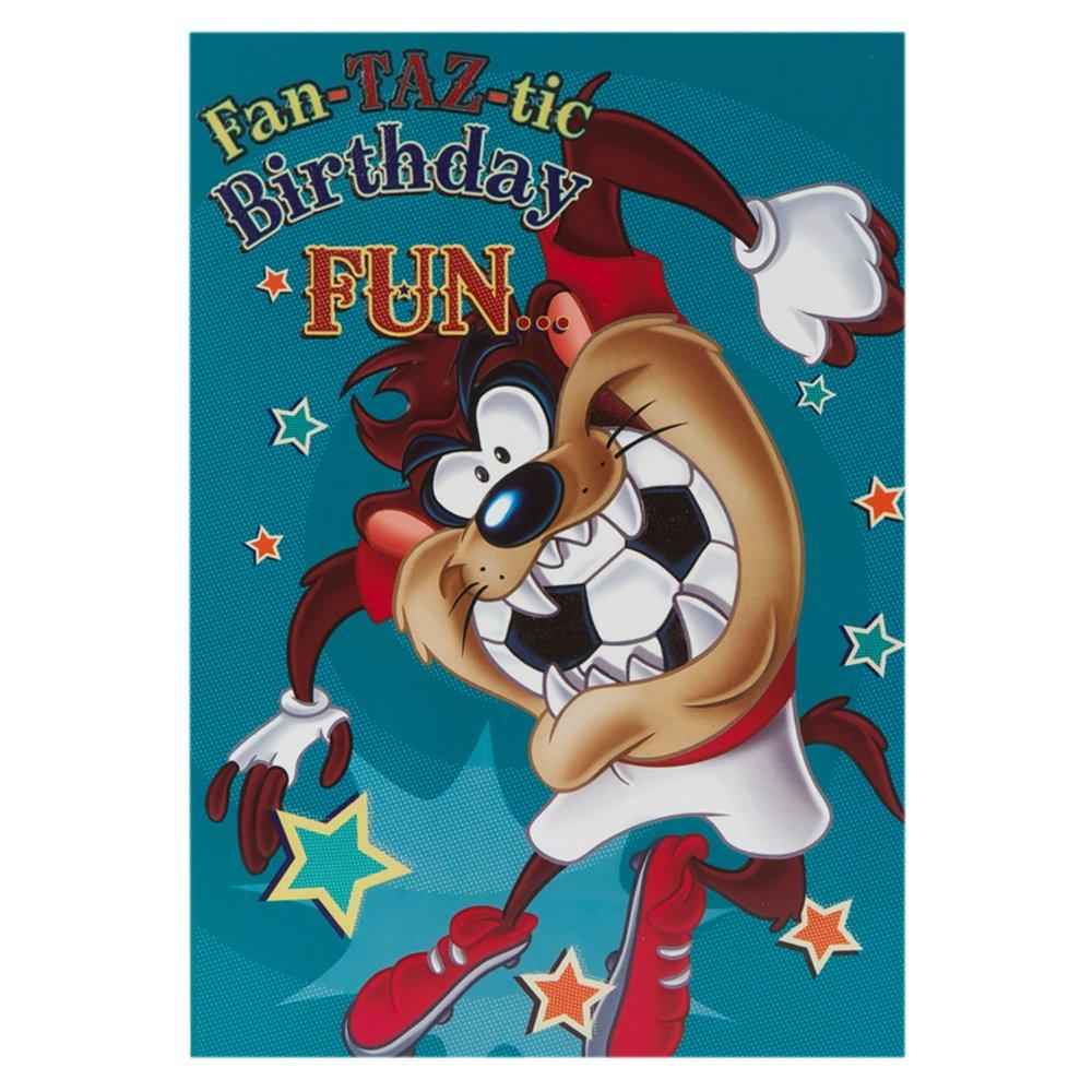 Hallmark Birthday Card For Him Fan Taz Tic Fun Medium Amazon