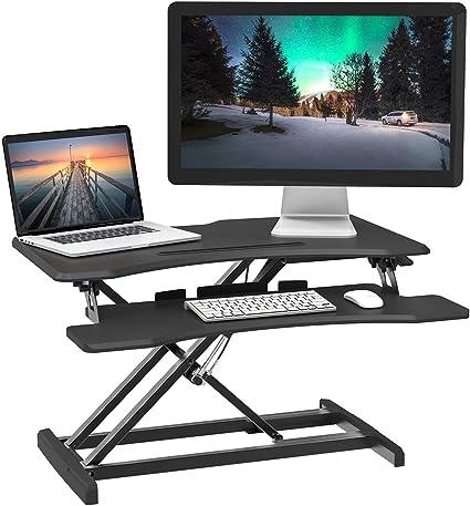 Charmount convertidor de escritorio de altura ajustable, estación ...