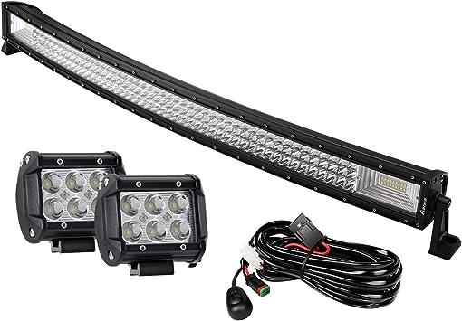 """Curvo 180W 32 pulgadas LED Luz de Trabajo Barra OFFROAD SUV Lámpara de Luz del Coche 4WD+4X 4/"""" 18W"""