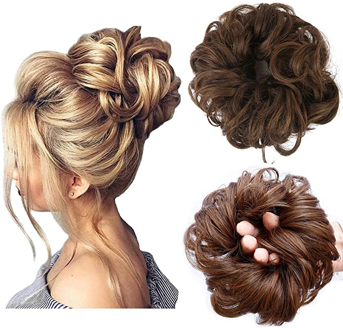 Messy Bun Hair Piece Thick Updo Scrunchies Synthetic Hair Extensions Ponytail Hair Wig Hairpiece