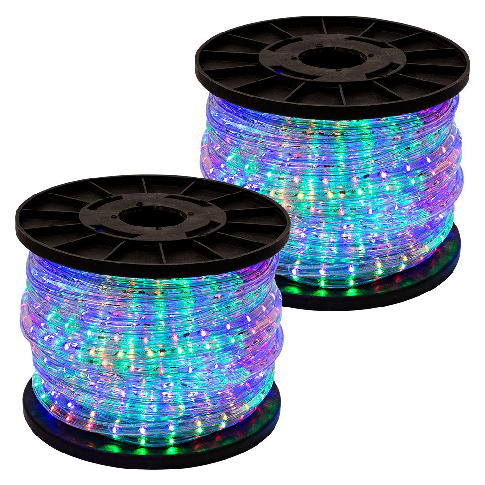 GotHobby 300' RGB Multi Color 2-wire LED Rope Light Home Outdoor Christmas Party Lighting