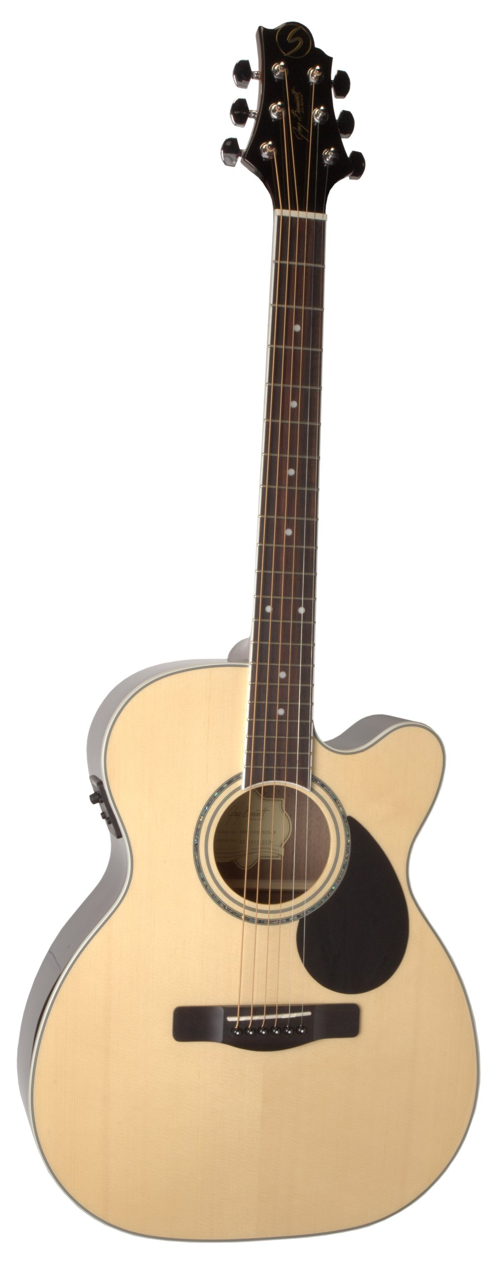 Samick Music G Series 100 GOM100RSCE Orchestra Body Acoustic-Electric Guitar, Natural