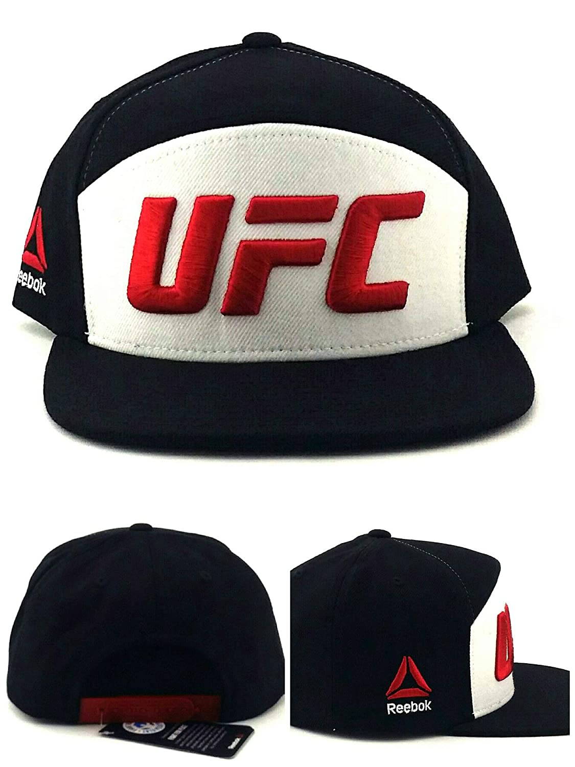 Reebok UFC RBK MMA Fighter Gorra de 5 Paneles, Color Negro, Blanco ...
