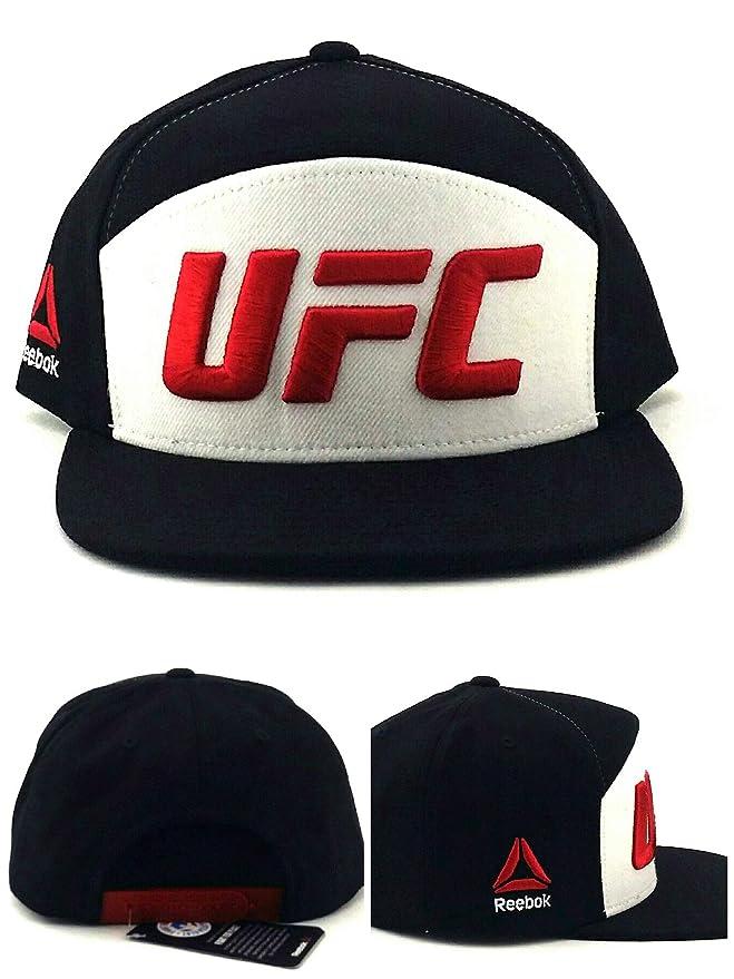 Reebok UFC RBK MMA Fighter Gorra de 5 Paneles, Color Negro, Blanco ...