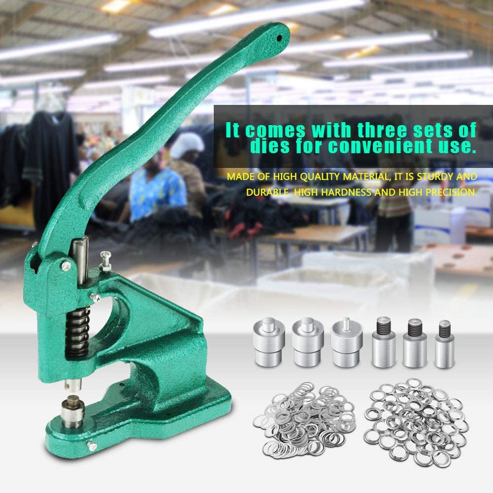 1 Handpresse Banner Presslochwerkzeug 6//10//12 mm /Ösenmaschine mit 3 Schablonen und 1500 T/üllen /Ösenlochmaschine Lochmaschine