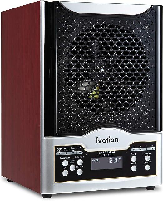 Ivation 5 en 1 purificador de aire HEPA y generador de ozono con ...