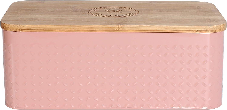 Lars NYS/ØM Panera Crumb I Recipiente para Pan con Bolsa incluida Hecha de Lino para una frescura particularmente Duradera I Caja de Pan con Tapa de bamb/ú Adaptable como Tabla de Cortar I 33x19x12 cm