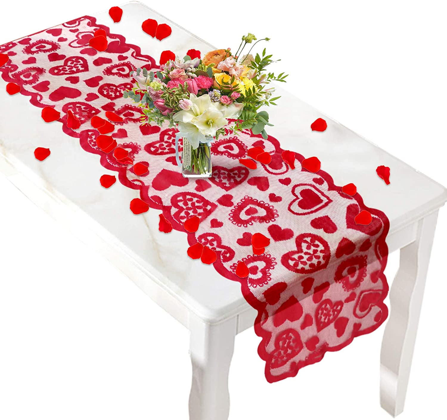 Lace Hearts Table Runners