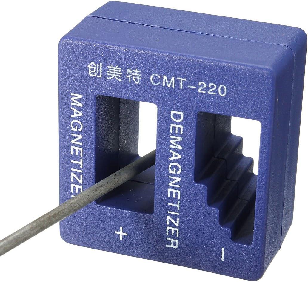 Calli Magnetizador puntas de destornillador cuadro desmagnetizador tornillo pedacitos herramienta magnética: Amazon.es: Electrónica