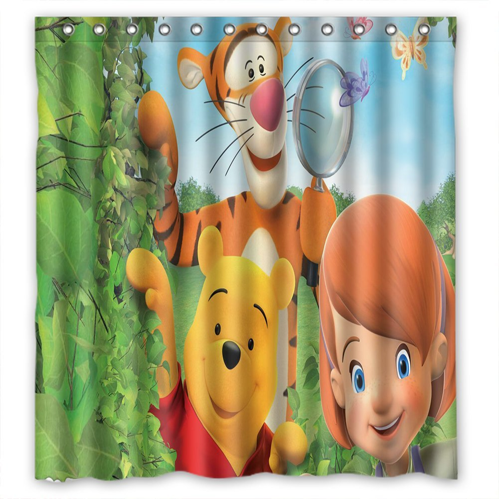 36 X 72 Inch Anime Style Shower Curtain Eco Friendly PVC Free Bathroom Waterproof And
