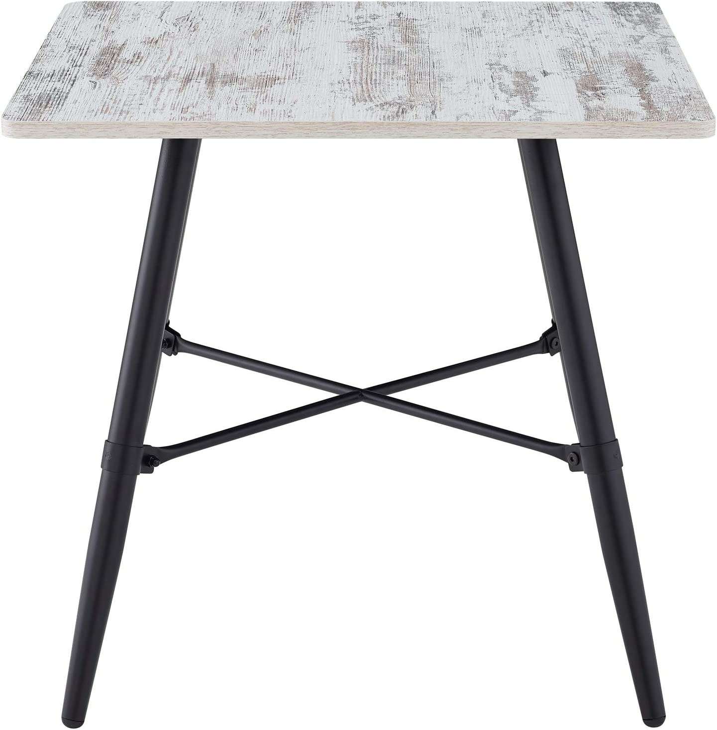 Classic Brands A01134-1352 Cameron End Table Without Tray-Distressed White