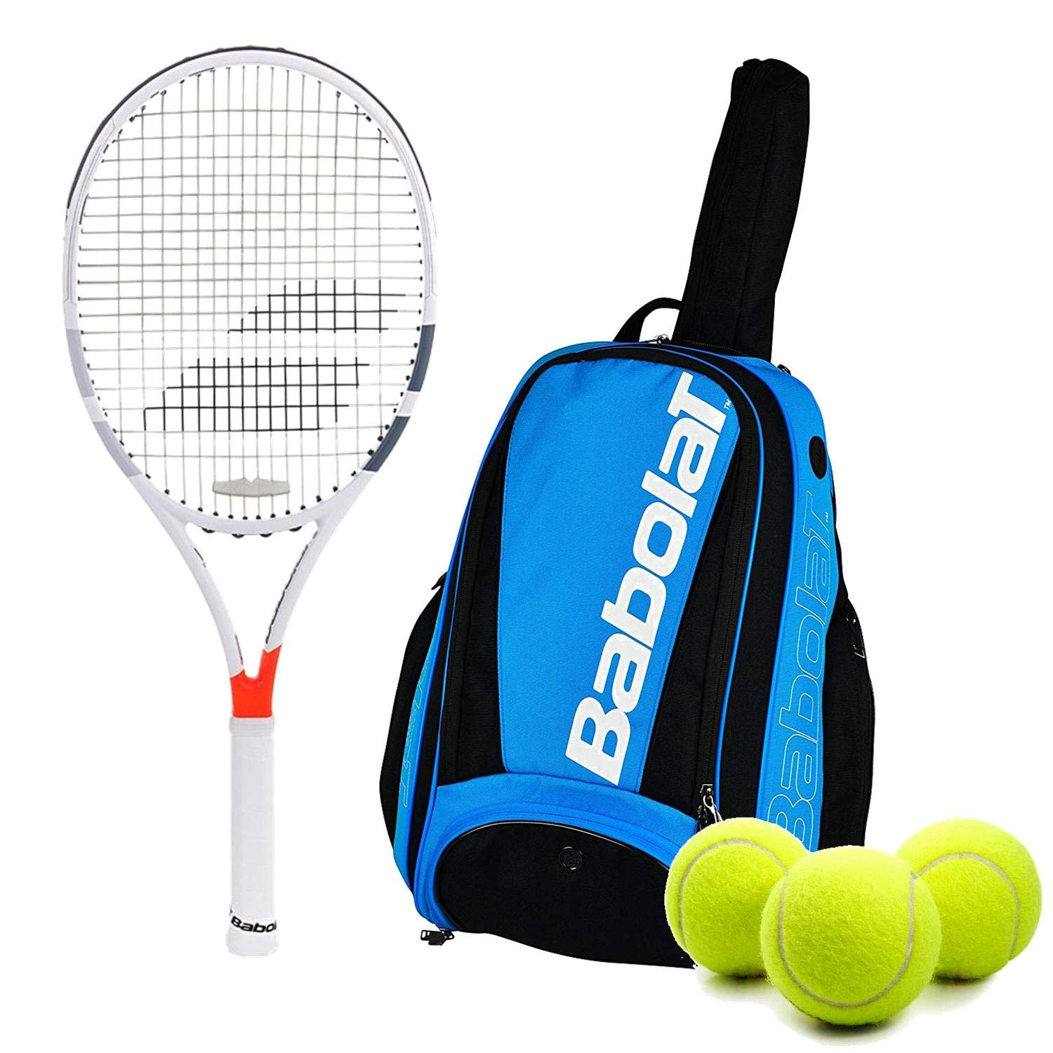 Amazon.com : Babolat Pure Strike 100 Tennis Racquet Set or ...
