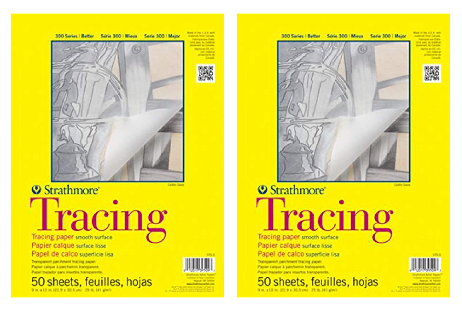 Strathmore aeqw 300 Tracing Pad 11X14 50 Sheets 2 Pack by Strathmore