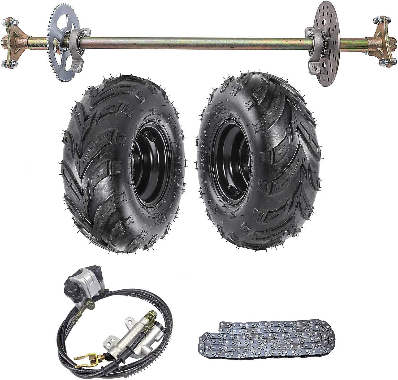 "29 1//8/"" Rear Axle Kit Brake Assembly w// 6 inch Wheels Tires fr Gokart Cart Kart"