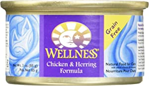 Wellness Chicken and Herring Formula Cat Food 6 Cans-3 Oz Each