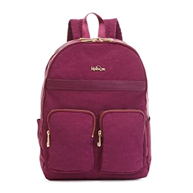 "d16e8ea1996 Image Unavailable. Image not available for. Color: Kipling Tina Large  15"" Laptop Backpack Deep Plum Combo"
