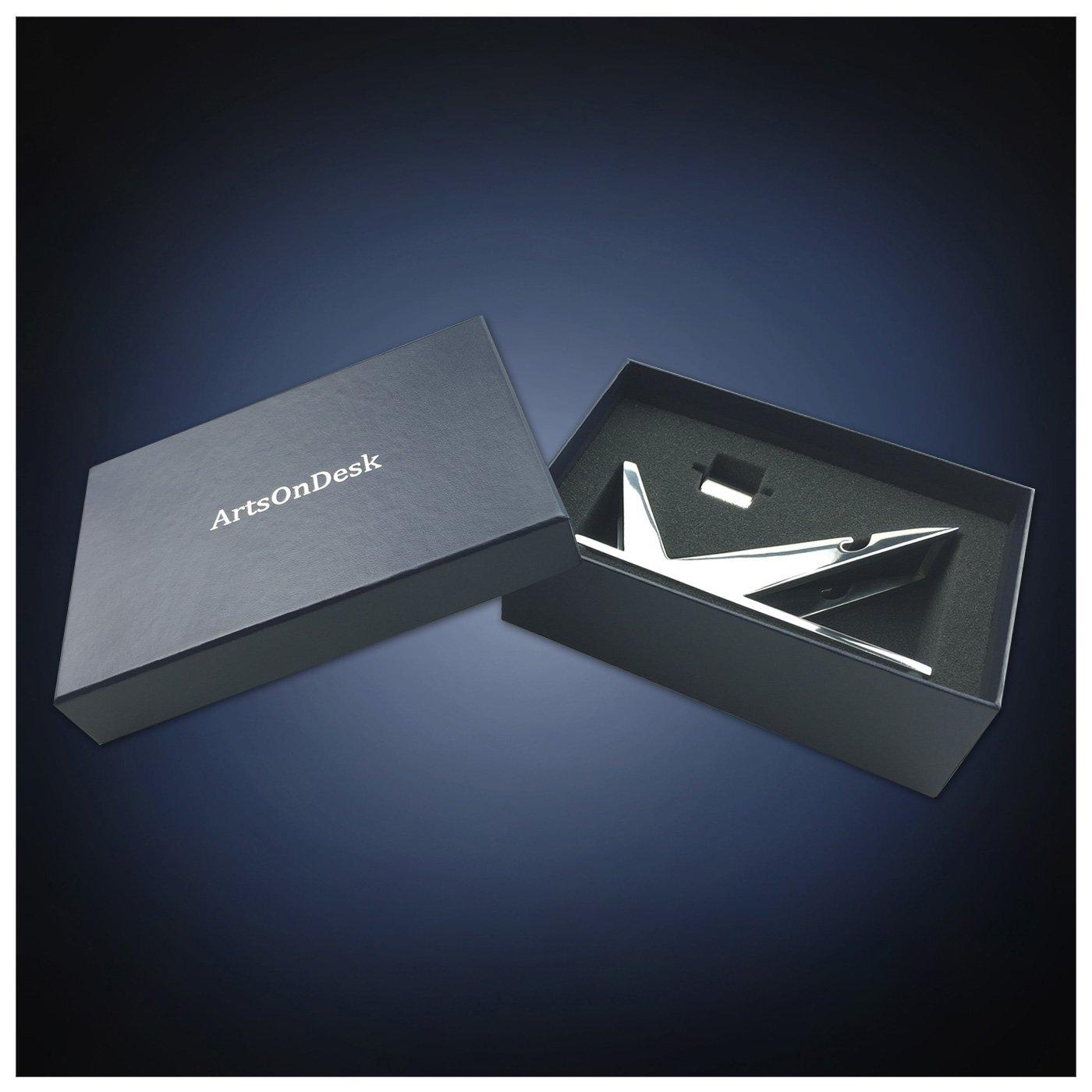 ArtsOnDesk Modern Art Tape Dispenser Mr102 Stainless Steel Mirror Polish Patented Luxury High-end Desk Accessory Office Organizer Cutter Thanksgiving Gift Christmas Gift by ArtsOnDesk (Image #4)