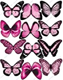 Cakeshop 12 x PRE-CUT Light Pink Edible Butterfly Cake Toppers - Premium Wafer Paper by Cakeshop PRE-CUT